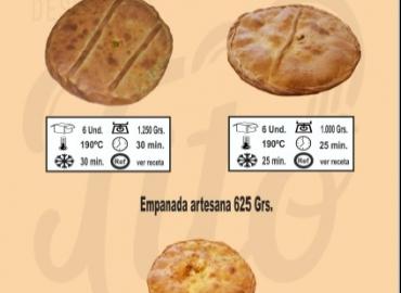Catálogo de empanadas