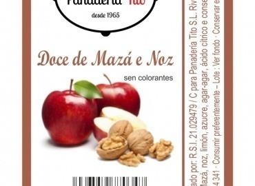 Dulce de manzana y nuez